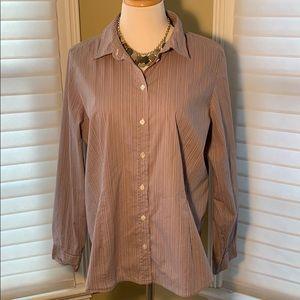J. Jill Lavender Long Sleeve Button Down Shirt